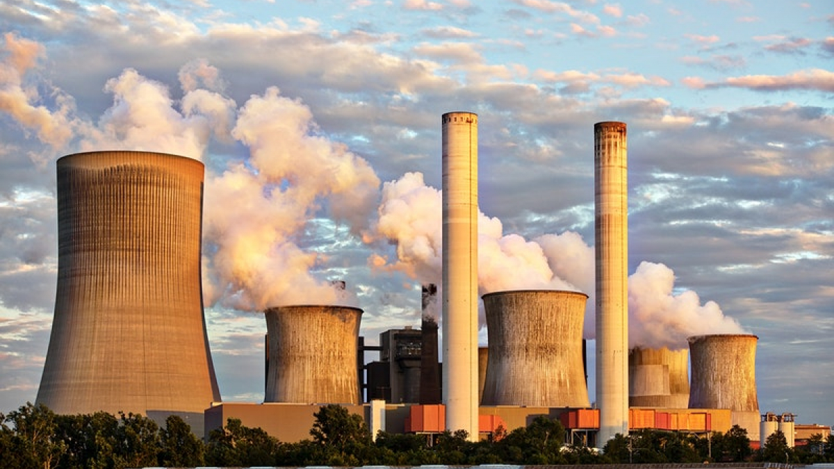 Nuclear cooling towers.